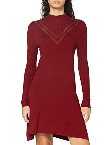 ONLY Damen ONLLIVI Life L/S Dress KNT Kleid, Pomegranate, S