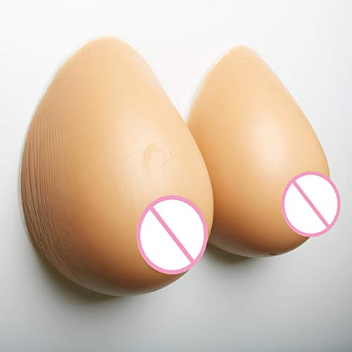 Review Of S-14xl Brown Cup Fake Breast, Drop-Shaped Silicone Fake Breast Burst Breast Surgery Postop...