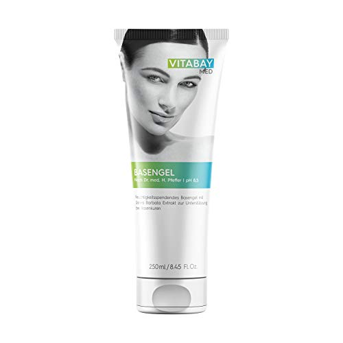 Vitabay Basengel 250 ml • pH-Wert 8,5 • Hautpflege mit Usnea Barbata • Unterstützend bei Basenkuren