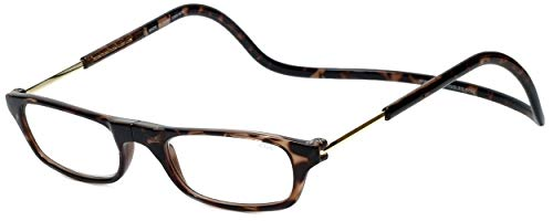 Clic Magnetic Reading Glasses Tortoise +2.00