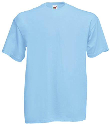 Fruit of the Loom - Camiseta - Hombre Azul Celeste Medium