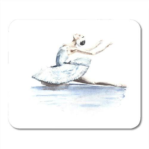 Muis Pads Dans Ballet Ballerina Danser Wit Zwaan Lake Sterven Aquarel Schilderen Klassieke Actie Muis Pad