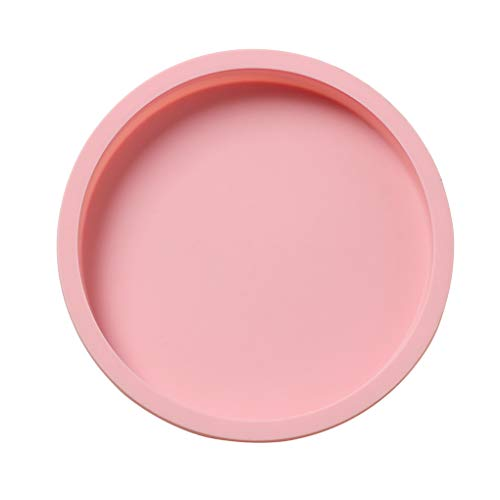 Niet-klevende siliconen cakevorm Niet-giftig Bakgereedschapvorm, zeepbakje Schimmel Chocolade Biscuit Taartdecoratie, Ronde vorm, Roze
