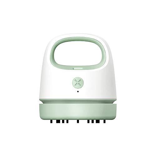 Desktop Vacuum Cleaner Portable Mini USB Charging Handheld Cordless Household Vacuum Cleaner Best Cleaner for Cleaning Paper Scraps, Dust, Pet Hair, etc. (Green)