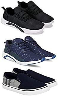 SWIGGY Sports (Walking & Gym Shoes) Running Shoes for Men Pack of 3 Combo(O)-1598-1244-771