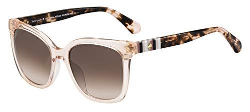 Kate Spade New York Women#039s Kiya Square Sunglasses Peach 53 mm