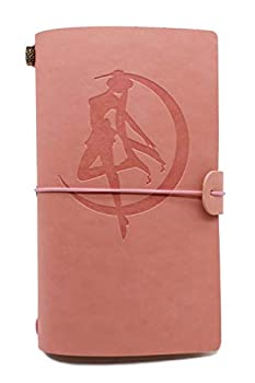 Leather Journal – Sailor Moon Gifts for Friends Son Daughter Cousins Sisters – 1 Set  Pink