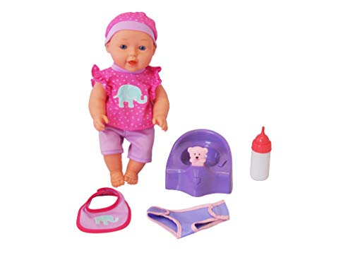 DREAM COLLECTION 12' Baby Doll with Musical Potty in Pink