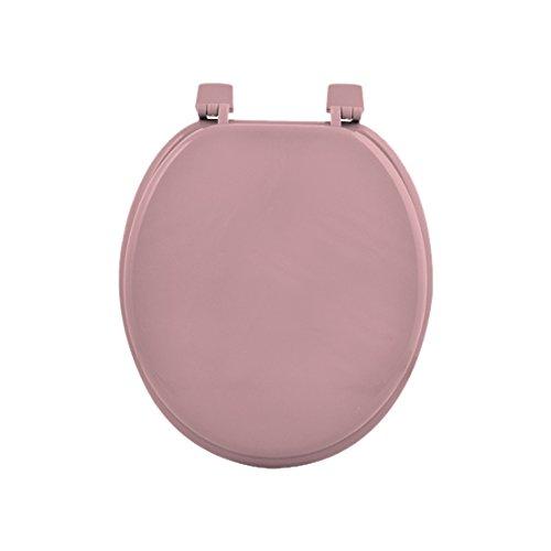 Douceur d'intérieur 6STO085RS - Sedile WC in MDF, 47 x 37 x 5 cm, Colore: Rosa Polvere
