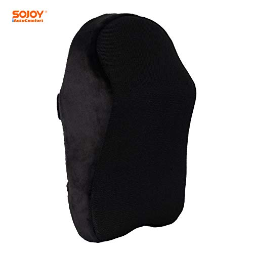 Sojoy Patented Universal Ergonomic Streamlining Car Seat Memory Foam Neck Support Cushion