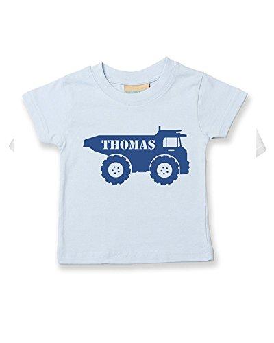 Ice-Tees T-shirt personnalisable pour bébé/enfant Motif Big Digger Truck - Bleu - 2-3 ans