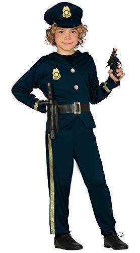 Guirca Polizei Kinderkostüm Polizisten Kostüm für Kinder Gr. 110-146, Größe:110/116