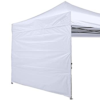 ABCCANOPY Instant Canopy SunWall 10x10 FT 1 Pack Sidewall Only White