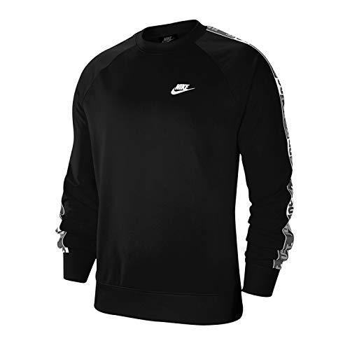 Nike Herren M NSW JDI Crew PK Tape Long Sleeved T-Shirt, Black, 2XL