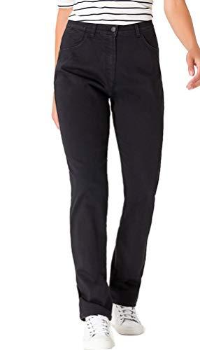 Raphaela by Brax Damen Corry Fame | Comfort Plus Jeans Hose, Schwarz (Black 2) , W36/L32 (Herstellergröße: 46)