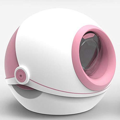 BeiQuan Súper de autolimpieza Caja de Arena, Aseo Gato, fácil de Limpiar, Prueba de Salpicaduras y Desodorante, Conveniente for los Gatos domésticos (Color : Pink)