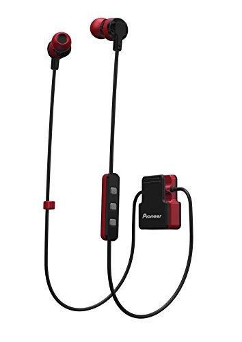 Pioneer SE-CL5BT-R - Auricular Deportivo (Bluetooth, Micrófono Integrado) Color Rojo, Medio