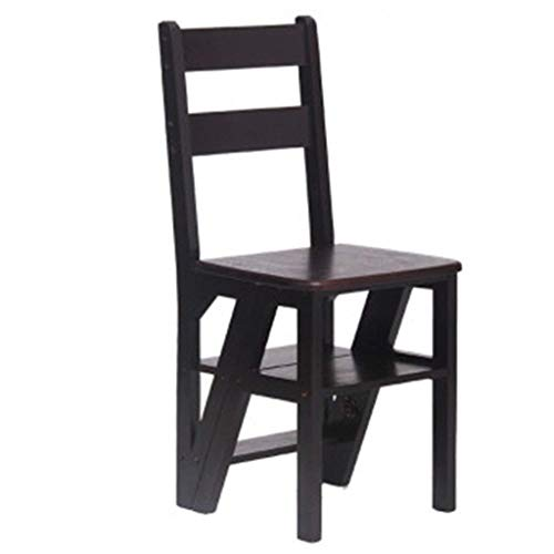 N/Z Daily Equipment Wooden Step Stool Home Step Stool 4 Layer Wooden Ladder Chair Climbing Ladder Household Folding Ladder Rack Practical Ladder Stool Pedal (Color : 1)
