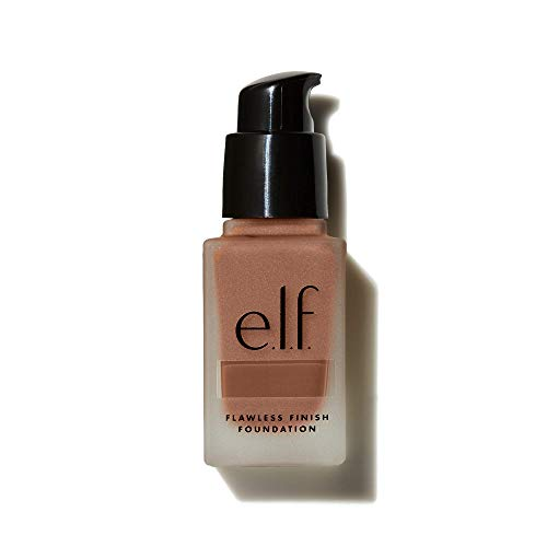 e.l.f., Flawless Finish Foundation, Lightweight, Oil-free formula, Full Coverage , Blends Naturally, Restores Uneven Skin Textures and Tones, Spice, Semi-Matte, SPF 15, All-Day Wear, 0.68 Fl Oz