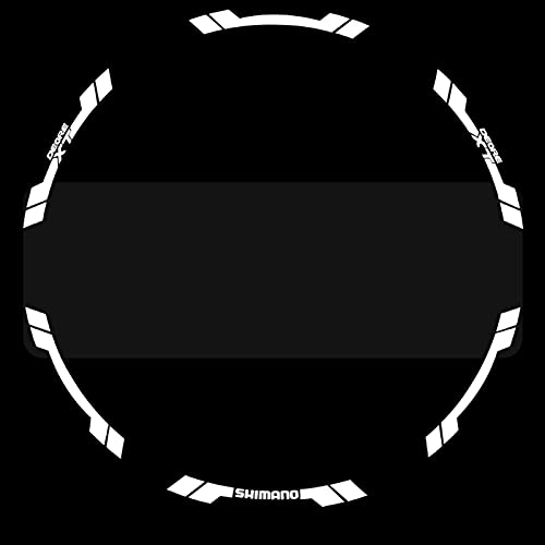 SHAYC Pegatinas de llanta de Rueda/calcomanías de Bicicleta de montaña/calcomanías de llanta de Bicicleta para MTB (Color : 29er White)