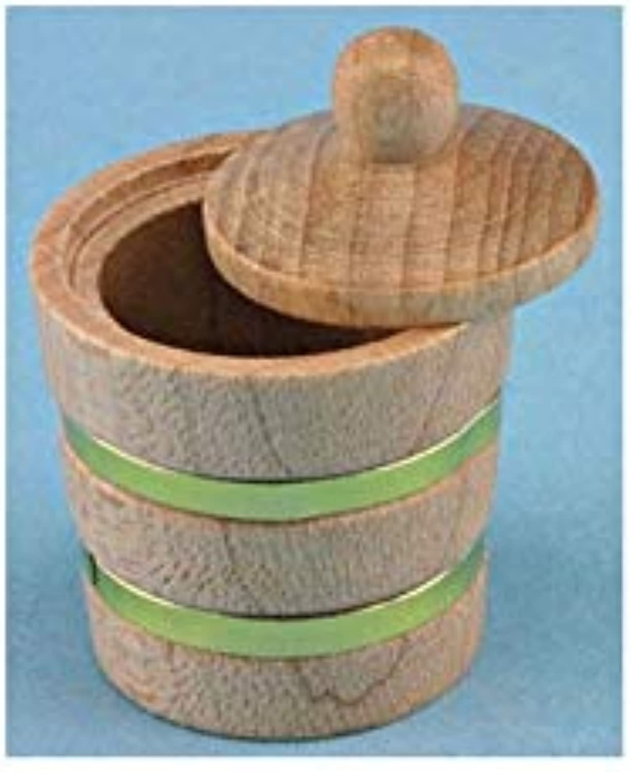 1  Scale Dollhouse Wooden Bucket W Lid