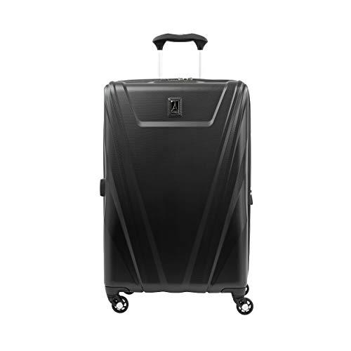 Travelpro Maxlite 5 Maleta de Facturación 4 Ruedas 69x44x29 cm Rígida, Ultraligera, Expansible y Resistente con Candado TSA 89 litros Equipaje de Viaje Grande Avión Garantía 5 Años (Negro, M)