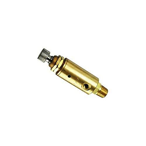 """Clippard MAR-1P Pressure Regulator, 1/8"""" NPT Inlet, 10-32 Outlet, Knurled Knob, 10-100 psig, 3 scfm @ 50 psig, 5 scfm @ 100 psig"""