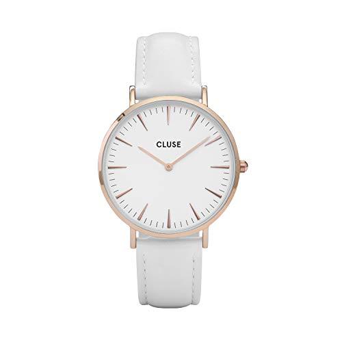 CLUSE Reloj Analógico para Mujer de Cuarzo con Correa en Cuero CL18042