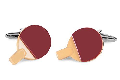 Sologemelos - Boutons De Manchette Ping Pong - Noir, Rouge - Hommes - Taille Unique