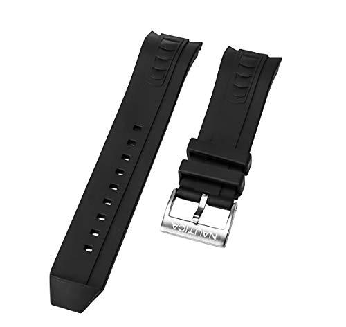 Nautica N24514G NVL-100 - Correa de repuesto para reloj de pulsera (24 mm), color negro