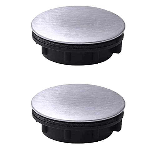 2 pezzi coperchio foro nastro lavello coperchio foro rubinetto in acciaio foro lavello piastra tappo tappo tappo di chiusura per cucina bagno (foro di installazione per 1,2-1,6 pollici / 31-40 mm)