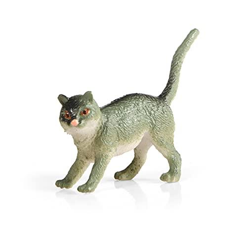 Zhushj'shop Animales De La Granja 12 Piezas De Modelo Animal Simulado Pet Cat MOVET MUE MUE Mini Mini Modelo PLÁSTICO Conjunto de Juguetes ZHUSJJS