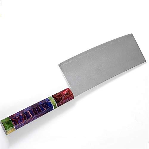 Cuchillo del cocinero Cuchillo de cocina acero de Damasco de 67 capas chino cocinero cuchillo afilado cuchillo Cleaver Peeling Vegetal Home Hotel utensilios de cocina