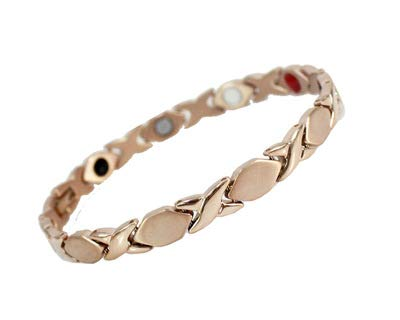 CLL Titanium Magnetic Bracelet for Arthritis Pain Relief with Strong Magnets Wristband Adjustable Magnetic Therapy Bracelet