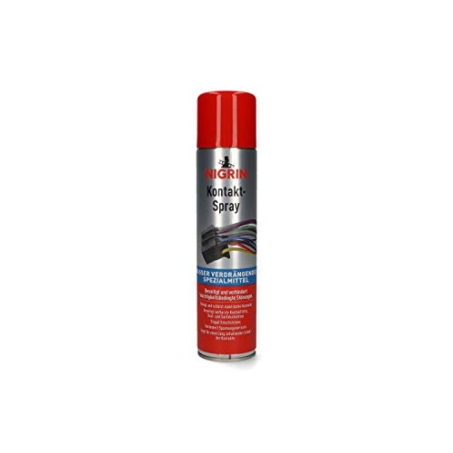 NIGRIN Kontakt-Spray für Elektronik, zur Reinigung und Schutz von elektronischen Kontakten, 300 ml