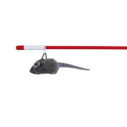 TRIXIE Spielangel mit Squieky-Maus 47 cm