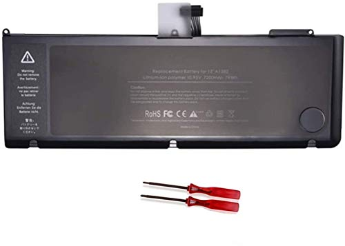 Onlyguo 10.95V 77.5Wh A1286 A1382 Laptop Battery Replacement for Apple MacBook Pro 15' [Early/Late 2011 2012 Years ONLY]