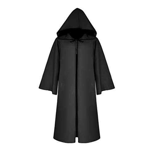 HuaCat Mittelalterliche Kostüme für Damen und Herren Einfarbiger Ritterumhang Halloween Kostüm Gothic Retro Ärmelumhang Umhang Renaissance Kleid