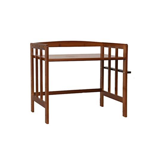 Estante de cocina SMC estante para horno de microondas estante para horno de varias capas de almacenamiento para el hogar, marco de madera para el hogar (tamaño: 80 x 38 x 48 cm)