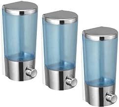Yo India Soap Hand Wash Foam Sanitiser Liquid Soap Holder Dispenser Bottle for Office Bathroom Kitchen Sink (Set of 3) 380 ml Gel, Lotion, Conditioner Dispenser (Blue, Grey)