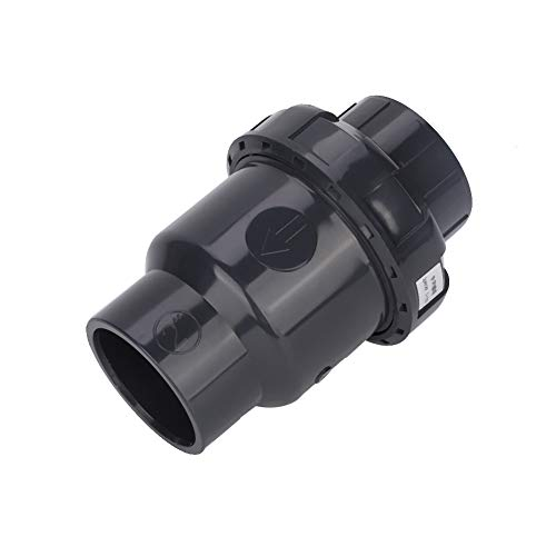 XQAQX Válvula de retención, válvula de Bola, válvula de tubería, válvula de retención de Piscina, válvula de retención con Servicio de Resorte, Accesorio de válvula de Bola de Piscina, Negro