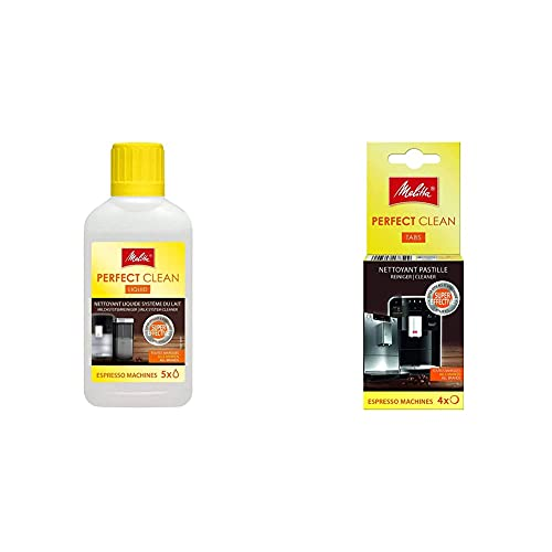 Melitta Perfect Clean-Limpiador líquido de Sistema de Leche para máquinas de café automáticas (250 ml), Plastic + 178599...