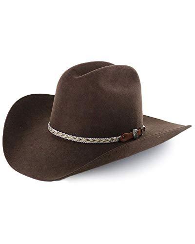 Cody James Men's Ramrod Pro Rodeo 3X Wool Felt Cowboy Hat Chocolate 7 1/2