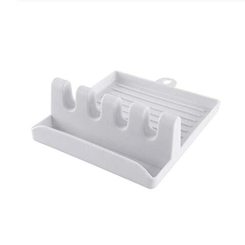 JOOFFF Hitzebeständiger Utensilienrest Multifunktionspfannenlöffelhalter Küchenkochzubehör,Beige