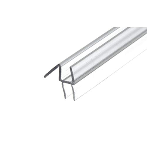 CRL Co-Extruded Clear Bottom Wipe with Drip Rail for 1/4 Glass - 31 in long