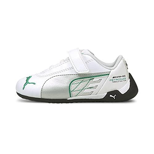 PUMA Mercedes R-Cat V Baby Sneaker Puma White-Puma Silver UK 8_Infant_FR 25