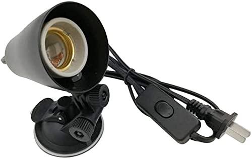WXking Control de Temperatura Smoking Skilling UVA UVB Lámpara Bulbo Clip Clip Soporte de luz para Tortuga Lagarto Hábitat Peces Pescado Iluminación con Interruptor Lámpara de Metal Reptil Lámpara de
