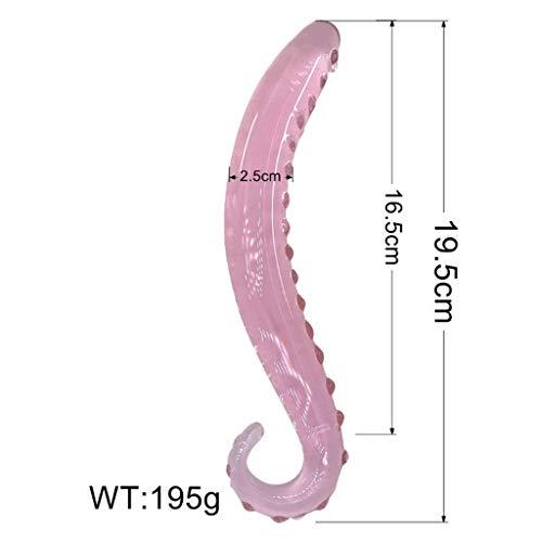 FlExyh 19.5cm Pink Glass Se'xy Toys Lesbian G-sp-ot Squirt Clear Crystal...