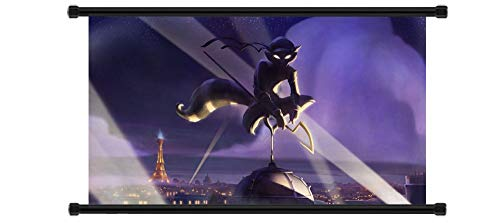Yutirerly Sly Cooper: Thieves in Time Game Fabric Wall Scroll Poster (32' x 18') Inches