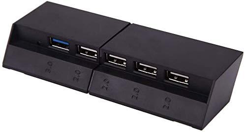 LeSB 5 Puertos hub USB Mini para PS4 Incluyendo 1 Puerto USB 3.0 y 4 Puertos USB 2.0